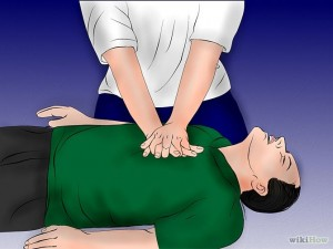 "Illustration from ""How to Do CPR on an Adult"" article on wikiHow"