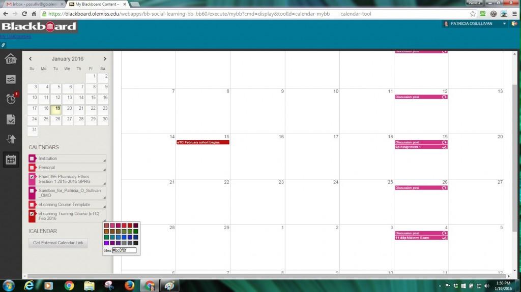 bb calendar